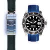 Curved Rubber On Deployment For Rolex